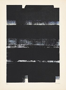 Lithograph Soulages - Lithographie No. 32a