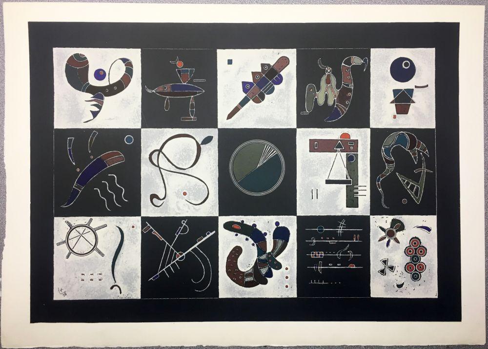 Lithograph Kandinsky - Lithographie pour Derrière le miroir 101-102-103. Deluxe sur Arches (1957).