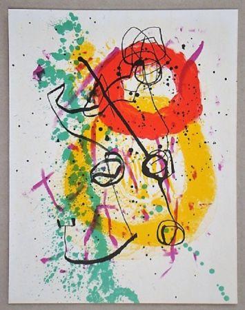 Lithograph Miró - Lithographie pour XXe Siècle