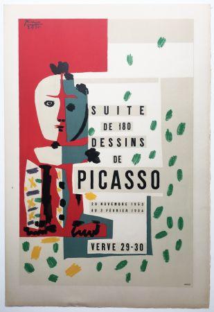Lithograph Picasso - LITHOGRAPHIE: SUITE DE 180 DESSINS. VALLAURIS VERVE 29-30. 1953-1954