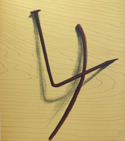 Lithograph Ray - Lithographie sur vélin d'Arches