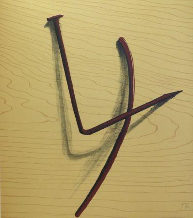 No Technical Ray - Lithographie sur vélin d'Arches. 1973.