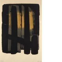Lithograph Soulages - Lithographies n°38