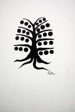 Lithograph Calder - Litografia Original Derriere Le Miroir - 1971