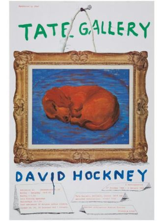 Poster Hockney - Little Stanley Sleeping Tate Gallery