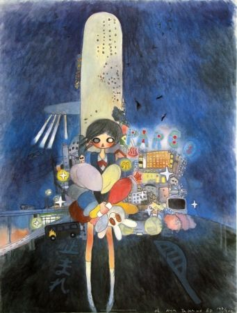 Lithograph Takano - Little Stars of City Child