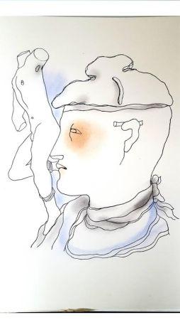 Lithograph Cocteau - Livre Blanc