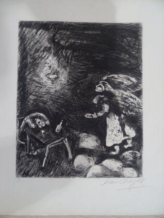Engraving Chagall - L'Ivrogne et sa Femme