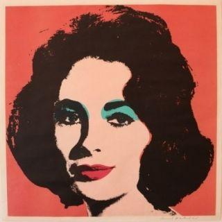 Lithograph Warhol - Liz 7 by Andy Warhol