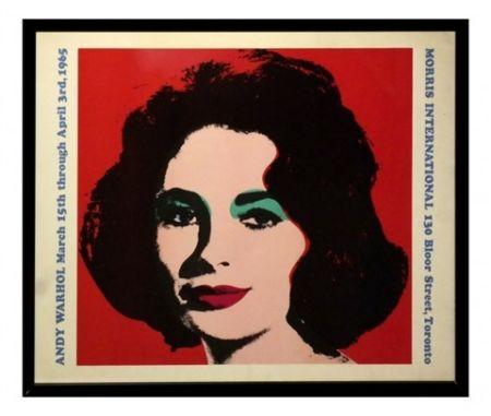 Lithograph Warhol - Liz taylor