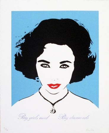 Screenprint Bambi - Liz Taylor (Light Blue)