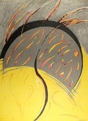 Lithograph Miralles - Llamas / Flames