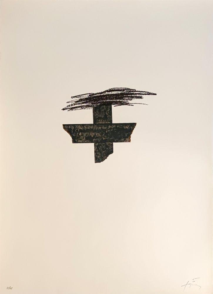 Lithograph Tàpies - Llambrec 1