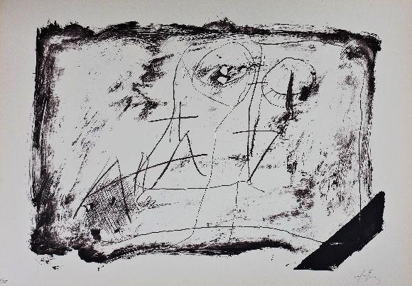 Lithograph Tàpies - LLambrec 11