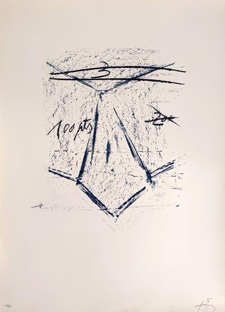 Lithograph Tàpies - Llambrec 12