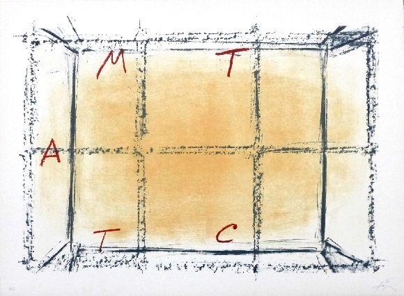 Lithograph Tàpies - Llambrec 18