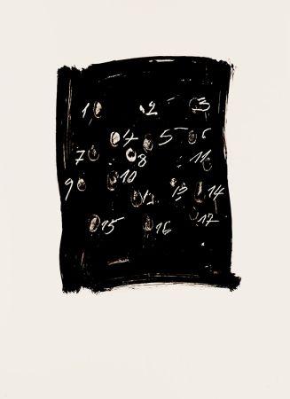 Lithograph Tapies - Llambrec 3