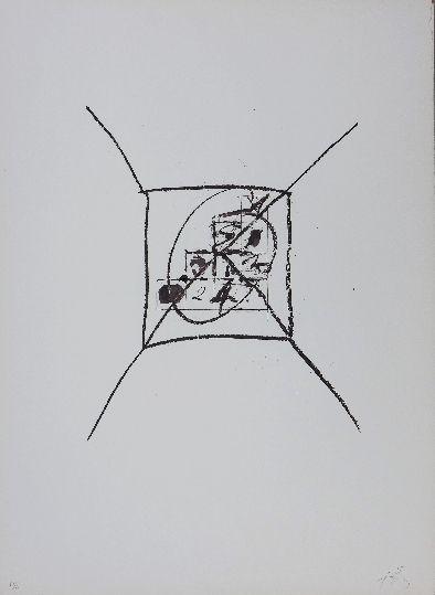 Lithograph Tàpies - LLambrec 9