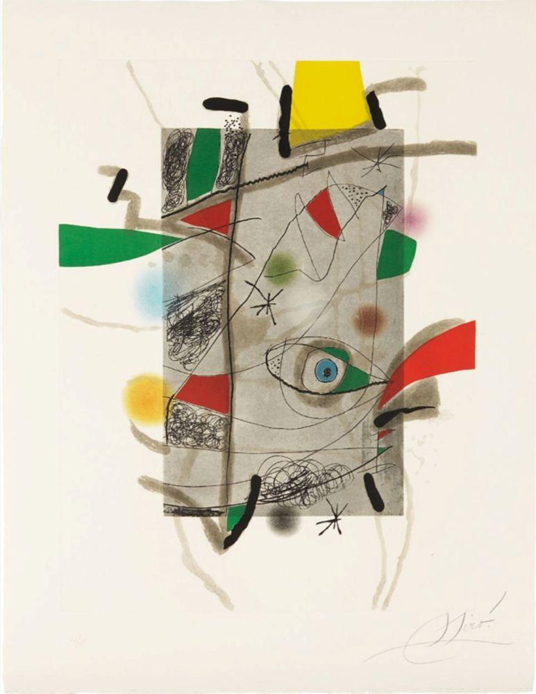 Etching And Aquatint Miró - Llibre dels sis Sentis, III