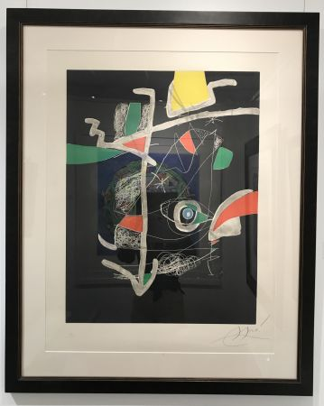 Etching And Aquatint Miró - L'Libre dels Sis Sentits VI (Book of the Six Senses)