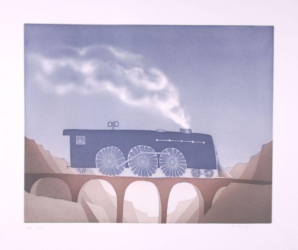 Etching And Aquatint Folon - Locomotive (suite TOYS)