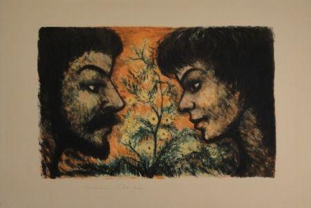 Lithograph Goerg - L'Offrande