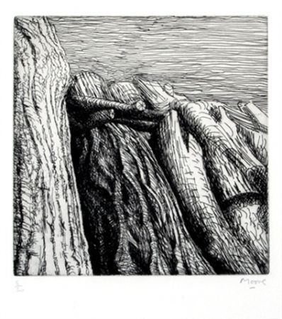 Etching Moore - Log pile III