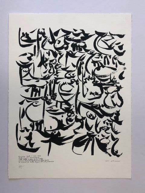 Lithograph Dotremont - Logogrammes