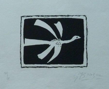Etching And Aquatint Braque - L`Oiseau