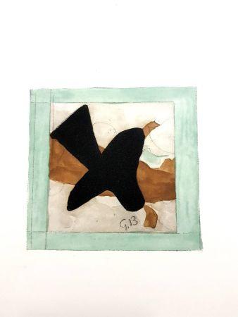 Lithograph Braque - L'oiseau