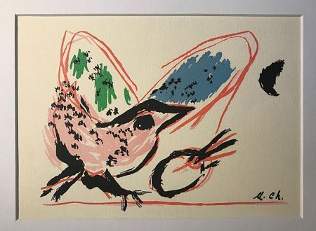 Lithograph Chagall (After) - L'Oiseau