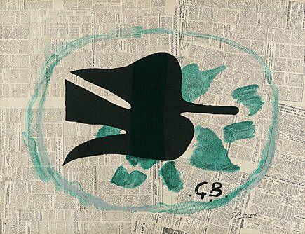 Lithograph Braque - L'oiseau dans le feuillage
