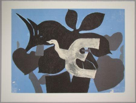 Lithograph Braque - L'oiseau dans le paulownia