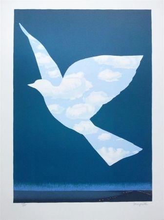 Lithograph Magritte - L'Oiseau de ciel (Sky bird)
