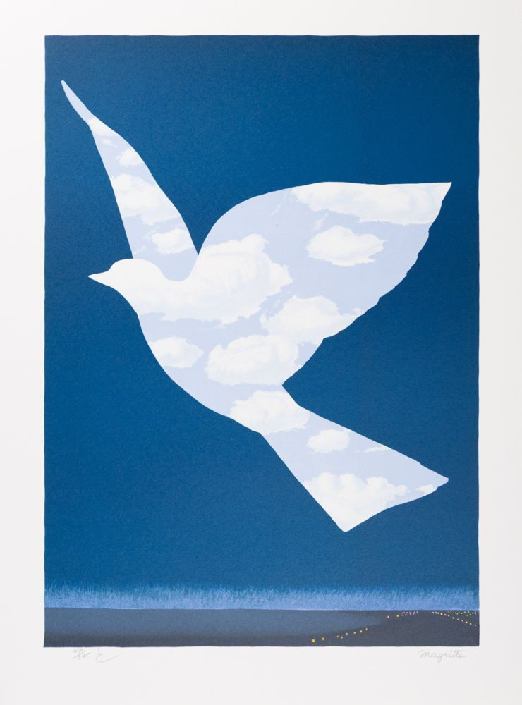 Lithograph Magritte - L'Oiseau de Ciel (The Sky Bird)