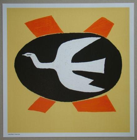 Lithograph Braque - L'oiseau de feu, 1958