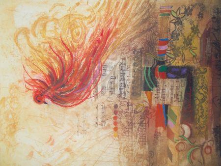 Etching Engel - L'oiseau de feu II
