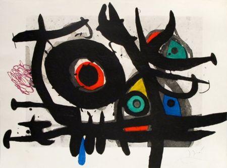 Etching Miró - L'oiseau destructeur
