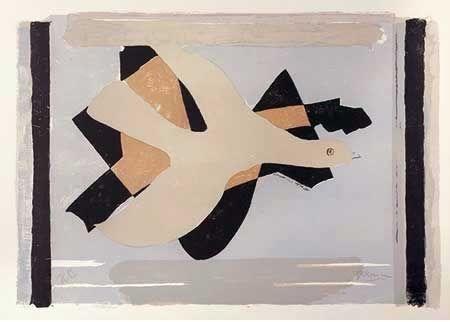 Lithograph Braque - L'oiseau est son nombre