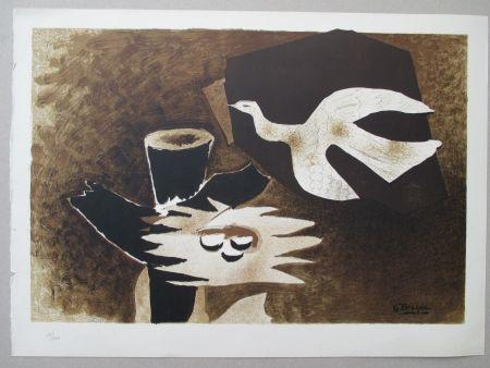 Lithograph Braque - L'Oiseau et son nid