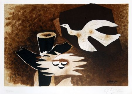 Lithograph Braque - L'oiseau et son nid (The Bird and Its Nest)