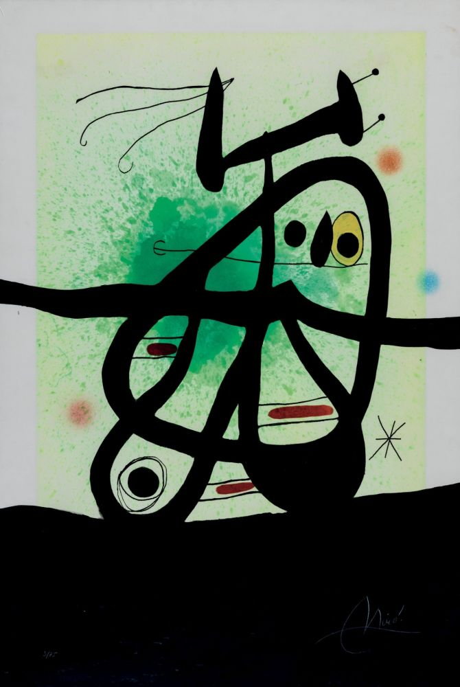 Etching And Aquatint Miró - L'Oiseau Mongol