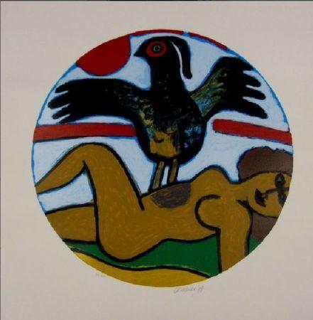 Lithograph Corneille - L'oiseau Present