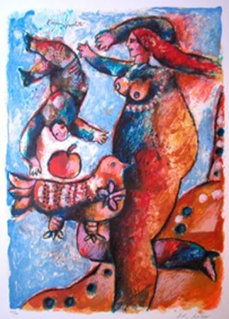 Lithograph Tobiasse - L'Oiseau Prophete