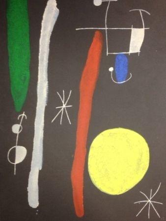 Lithograph Miró - L'Oiseau Solaire - L'Oiseau Lunaire - Étincelles