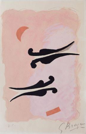 Lithograph Braque - L'Oiseaux - La nuit - La faim