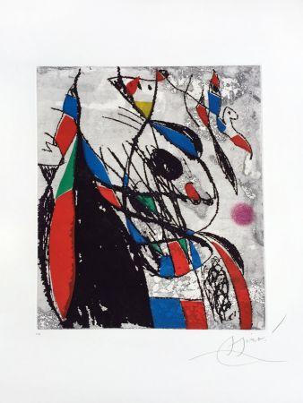 Etching And Aquatint Miró - L'Oiseleur et sa Compagne