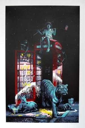 Screenprint Roamcouch - London calling