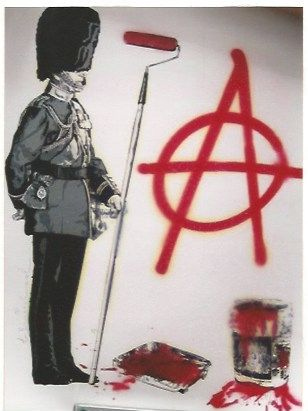 Screenprint Mr. Brainwash - LONDON show Anarchy