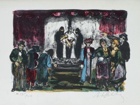 Lithograph Blatas - L'opera Des Gueux The Beggers Opera plate no. VI
